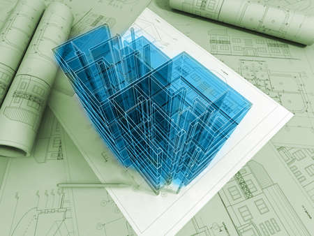 3D 계획 도면 스톡 콘텐츠 - 11077947