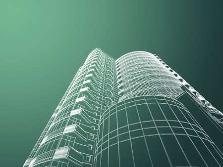 cad: Abstract architecture Stock Photo