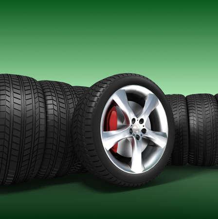 aluminum wheels: Neum�ticos