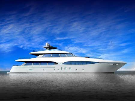 jachthaven: Luxe jacht Stockfoto