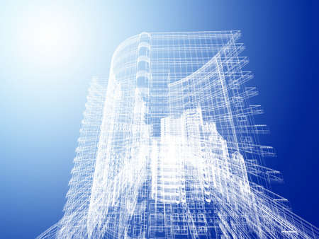 architectural drawing: Abstract architecture Stock Photo