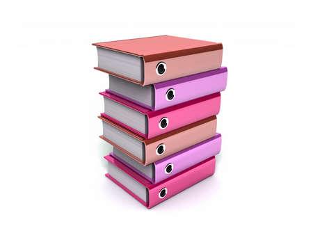 3d illustration of archive folders stack  illustration
