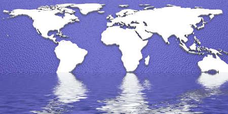 3d World Map Stock Photo - 11141273