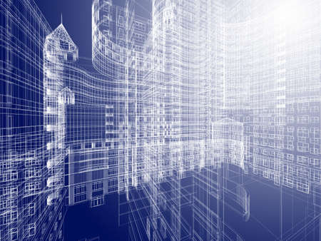 architecture design: Abstract architecture  Stock Photo