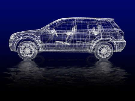end line: Modelo de coche