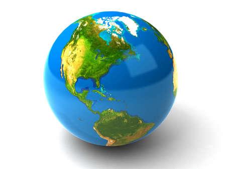 north: 3d realistic Globe
