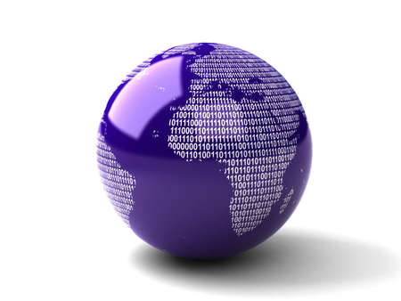asia globe: Binary Globe