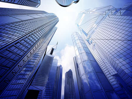 engineering concept: Abstract architecture  Stock Photo
