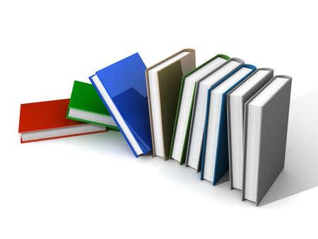 Farbige Bücher Isoliert Auf Weiß Lizenzfreie Fotos, Bilder Und Stock ...