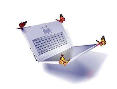 weightless: Weightless laptop Stock Photo
