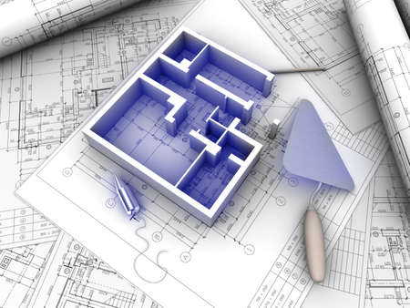 3D plan drawing photo
