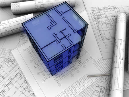 3D plan drawing Stock Photo - 11326044