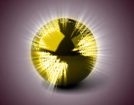 Binary Globe Stock Photo - 11326002