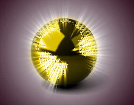 Binary Globe Stock Photo - 11326002