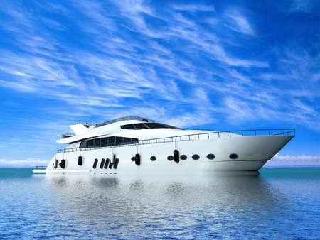 Yacht di Lusso Archivio Fotografico