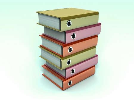 3d illustration of archive folders stack Stock Illustration - 11592543