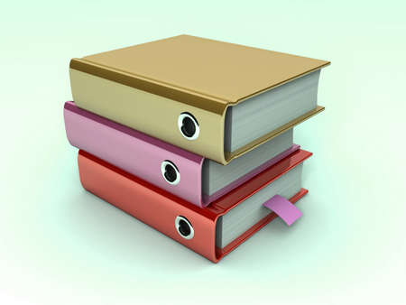 3d illustration of archive folders stack  Stock Illustration - 11592576