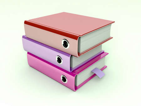 3d illustration of archive folders stack Stock Illustration - 11592575
