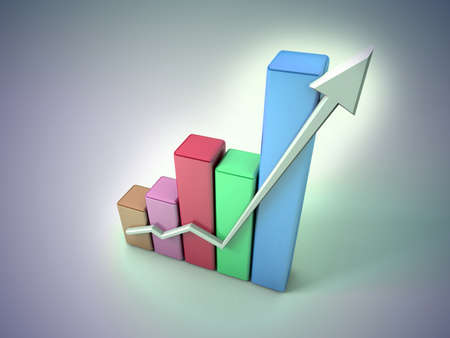 Business graph Stock Photo - 11592530