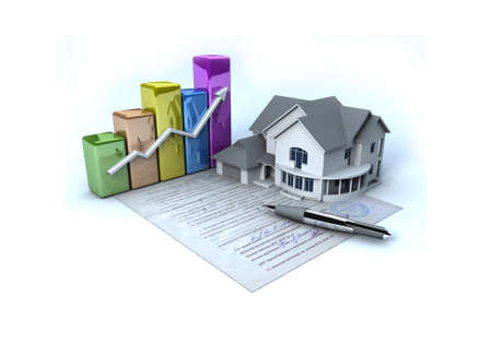 Documents on the house Stock Photo - 11592710