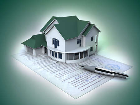 real estate background: Documents on the house