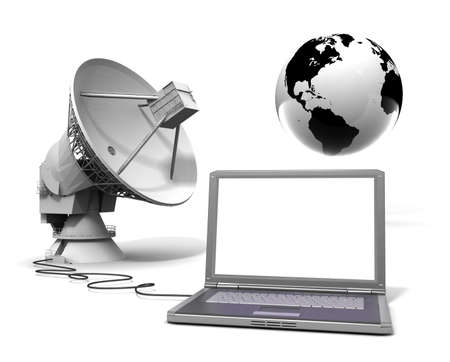 dish: Global communication Stock Photo