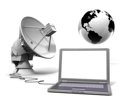 antena parabolica: La comunicación global Foto de archivo