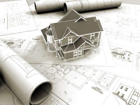 drafting: 3D model of