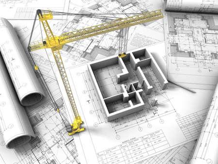 3D plan drawing Stock Photo - 12558577