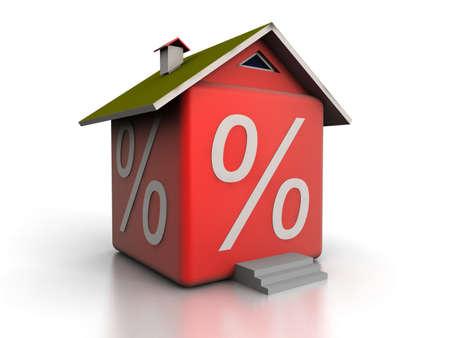 Percent house Stock Photo - 12560053