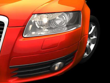 shiny car: Rode auto