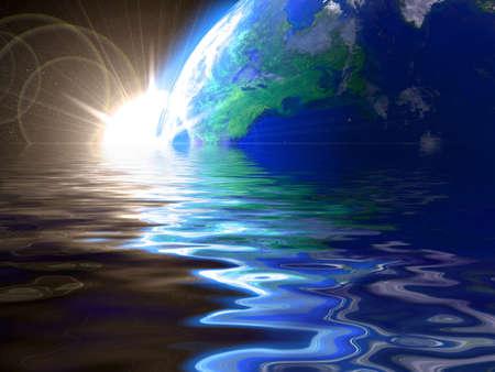 atlantic ocean: Globe