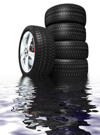 New tires Stock Photo - 12559772