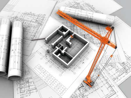 3D plan drawing Stock Photo - 12558600