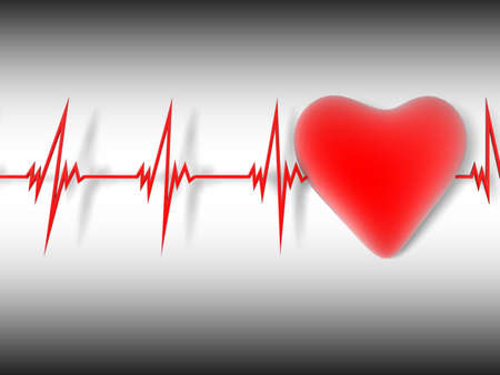 heart and heartbeat symbol photo