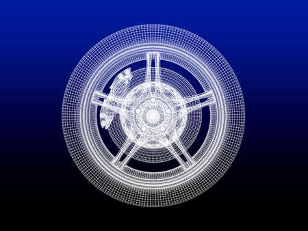 Wheel model Stock Photo - 12558563