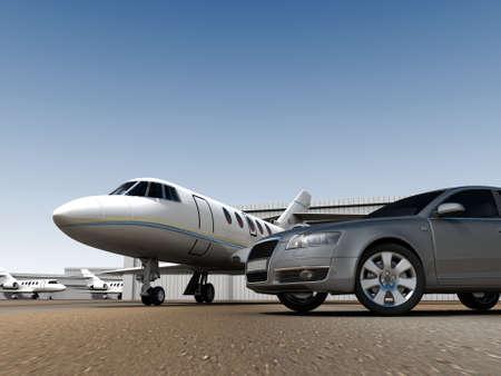 front bumper: Luxury Transportation Stock Photo