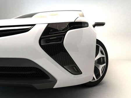 details: White sport car  Stock Photo