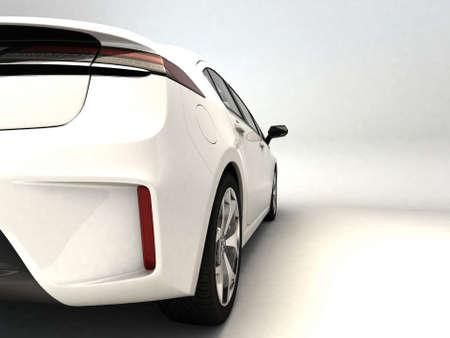 White sports car  Stock Photo