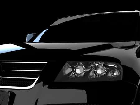 dream car: Coche negro Foto de archivo