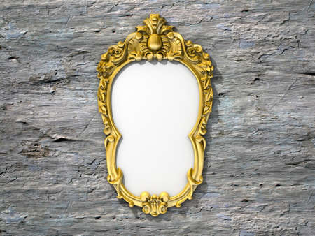 Ornate vintage frame photo