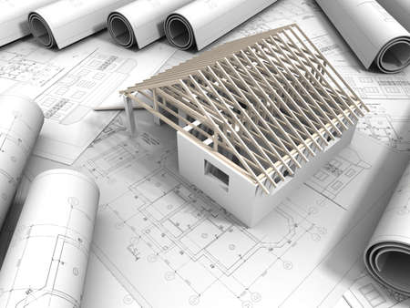 3D plan drawing  Stock Photo - 14789988