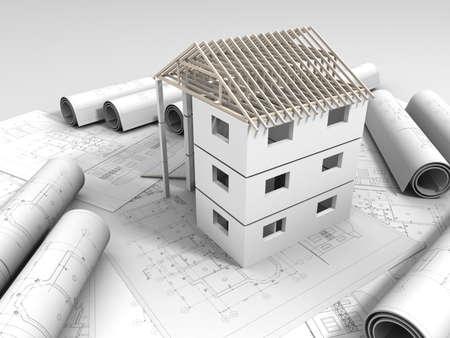 3D plan drawing Stock Photo - 14789983