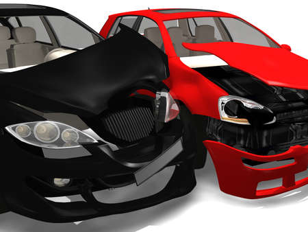 collision: Car accident  Stock Photo