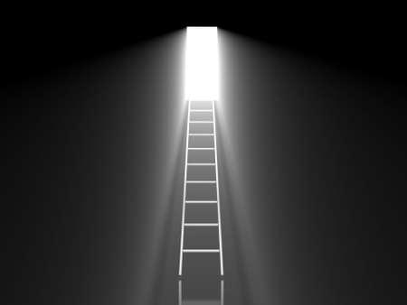 Exit from the dark  Standard-Bild