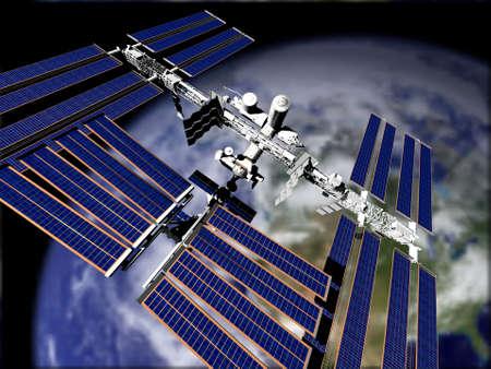 Satellite in Orbit  photo