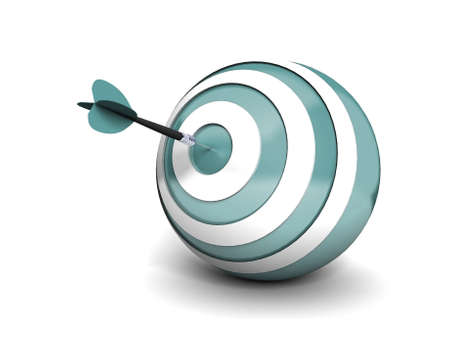performance management: Dart right on the target  Stock Photo