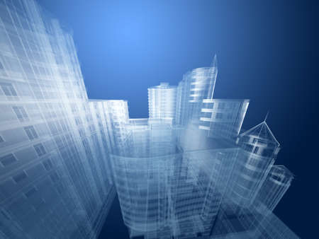 construction site: Abstract architecture  Stock Photo