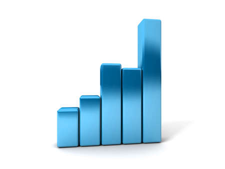 Business Graph showing profits and gains  Stock Photo - 17268553
