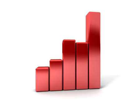 Business Graph showing profits and gains Stock Photo - 17268317